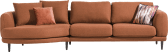 lounge end - small - 2 coussins big inclus - rond - gauche