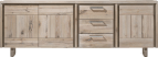 dressoir 240 cm - 3-deuren + 3-laden - hout