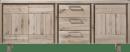 dressoir 220 cm - 3-deuren + 3-laden - hout