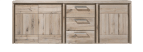 sideboard 200 cm - 3-tueren + 3-laden - holz