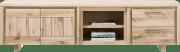 lowboard 220 cm - 2-deuren + 2-laden + 2-niches - hout