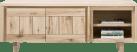 lowboard 180 cm - 2-deuren + 2-niches - hout
