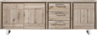 dressoir 240 cm - 3-deuren + 3-laden - rvs
