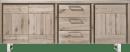 dressoir 220 cm - 3-deuren + 3-laden - rvs