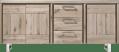 sideboard 200 cm - 3-tueren + 3-laden - edelstahl
