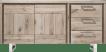 dressoir 180 cm - 2-deuren + 3-laden - rvs