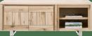 lowboard 160 cm - 2-deuren + 2-niches - rvs