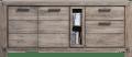 dressoir 190 cm - 2-deuren + 2-laden + 2-niches (+ led-spot)