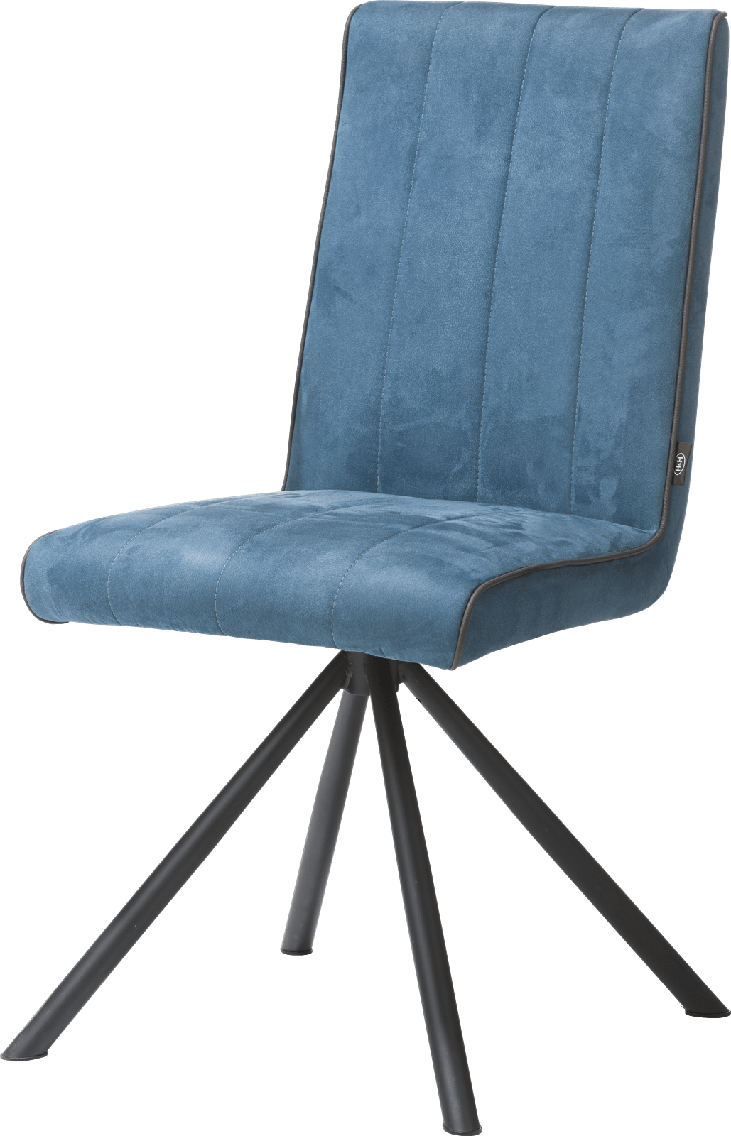 Salle A Manger H&h elza chaise - 4 pieds noir - tissu calabria 4 couleurs