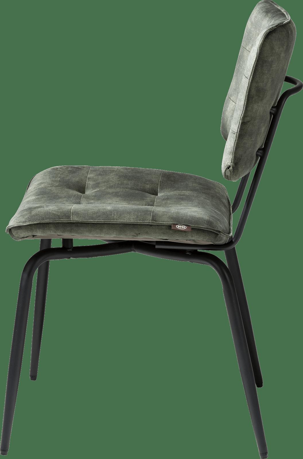 Manou Chaise Off Black Tissu Karese