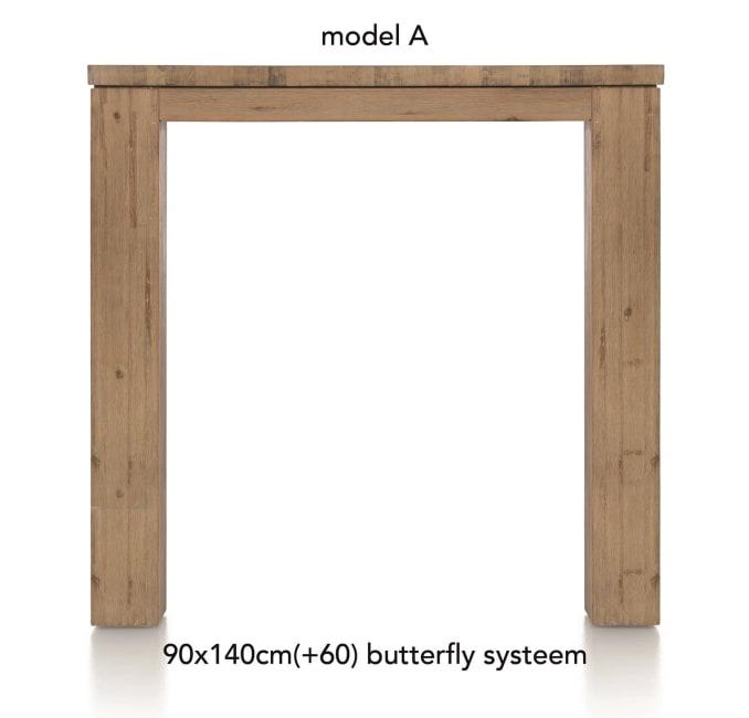 A La Carte - uitschuif-bartafel 140 (+ 60) x 90 cm - aad