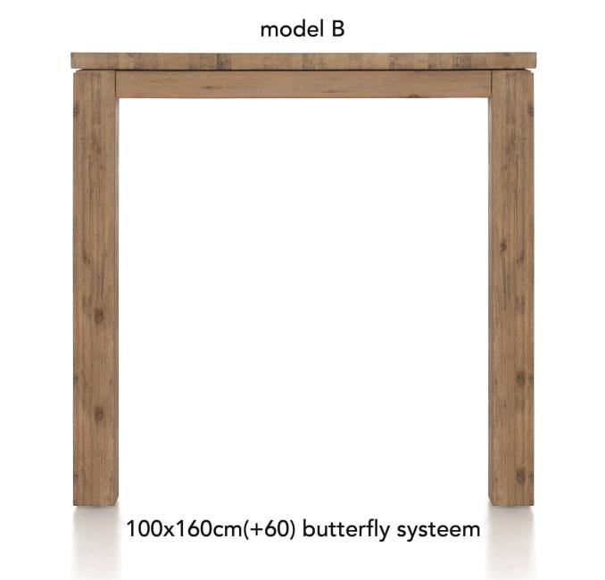 A La Carte - uitschuif-bartafel 160 (+ 60) x 100 cm - ben