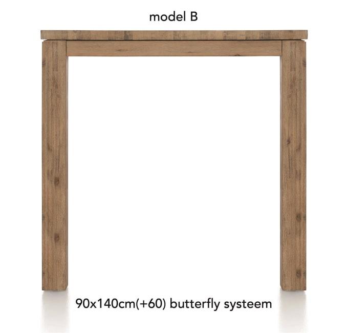 A La Carte - uitschuif-bartafel 140 (+ 60) x 90 cm - ben