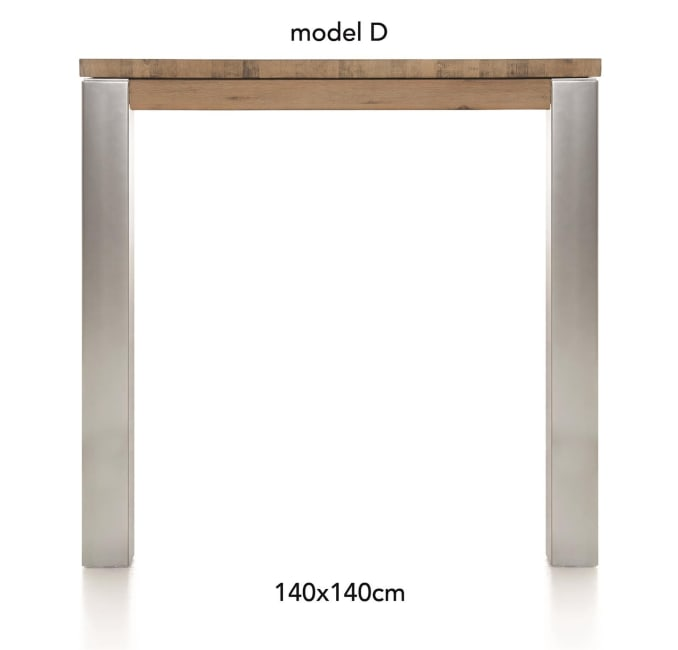 A La Carte - table de bar 140 x 140 cm - dirk