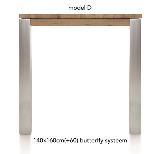 A La Carte - table de bar a rallonge 160 (+ 60) x 140 cm -dirk