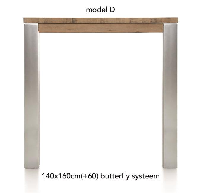 A La Carte - uitschuif-bartafel 160 (+ 60) x 140 cm -dirk