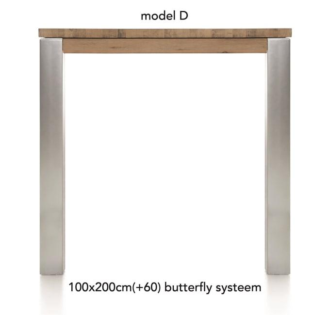 A La Carte - table de bar a rallonge 200 (+ 60) x 100 cm - dirk