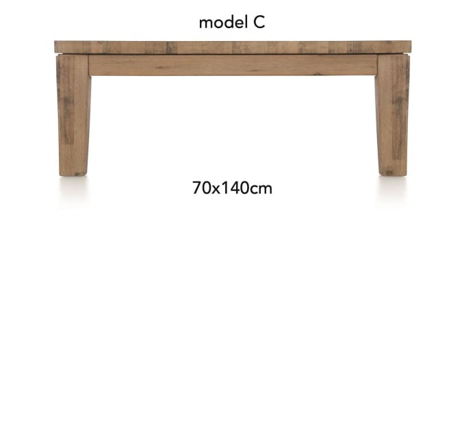 A La Carte - table basse 140 x 70 cm - cor