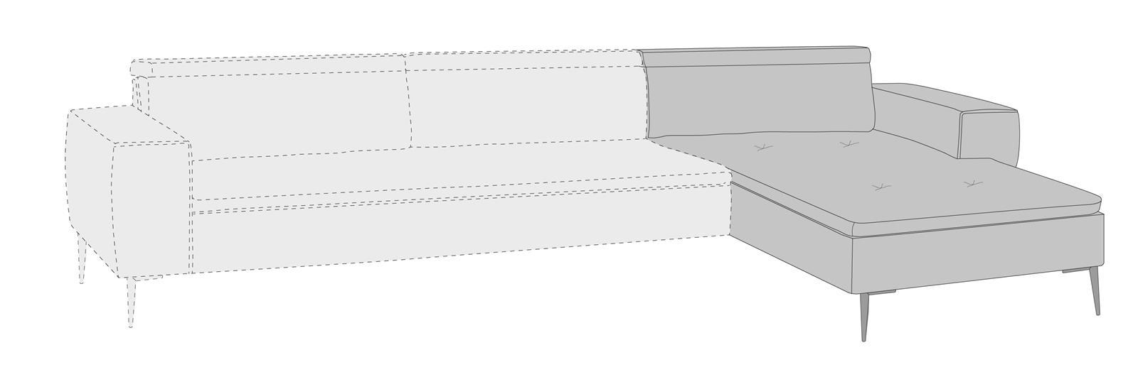 Talisman - longchair rechts
