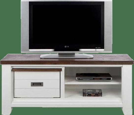 Velasco - tv-dressoir 130 cm - 1-box + 2-niches