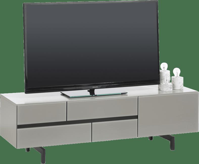 Lurano - meuble tv 140 cm - 1-tiroir + 1-porte rabattante