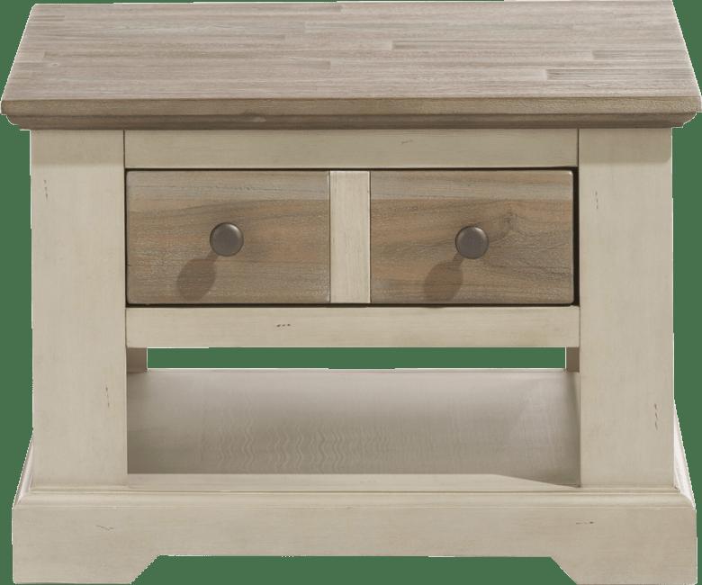 Le Port - ecktisch 60 x 60 cm + 1-lade t&t + 1-nische