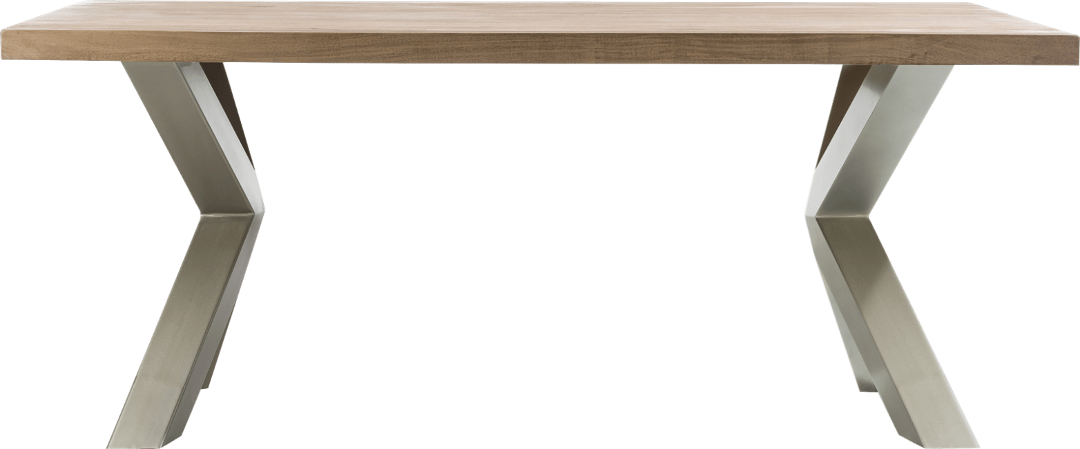 Garda - eetkamertafel 190 x 100 cm - x-onderstel