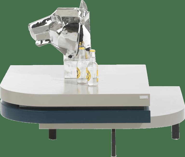 Lurano - table basse 75 x 75 cm - avec plateau pivotant