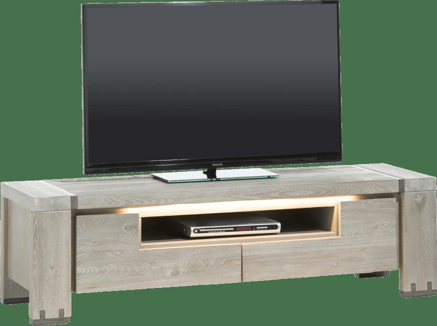 Avola - tv-dressoir 160 cm - 2-kleppen + 1-niche