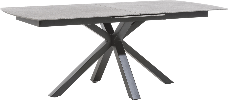 Multiplus - table a rallonge 200 (+ 60) x 100 cm - stone glass