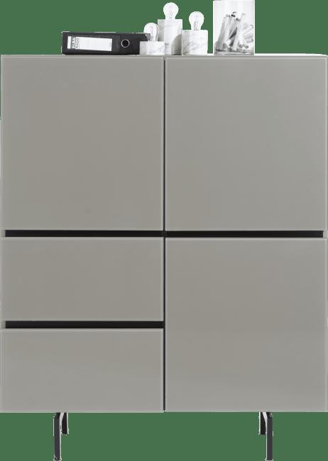 Lurano - highboard 115 cm - 3-deuren + 2-laden