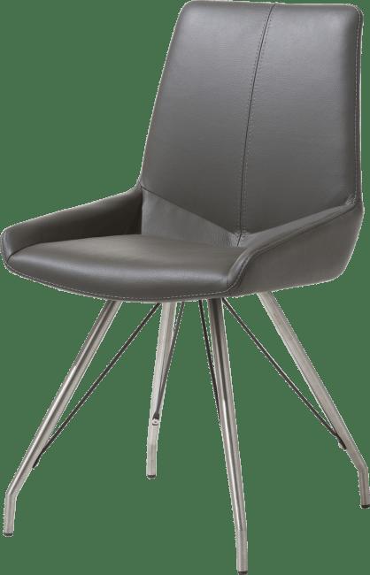 Levi - stuhl - edelstahl design fuss - catania leder