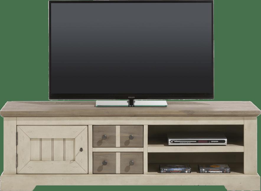 Le Port - tv-dressoir 160 cm - 1-deur + 2-laden + 2-niches