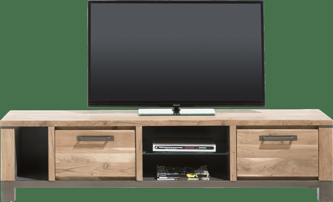 Falster - tv-dressoir 190 cm - 1-lade + 1-klep + 3-niches