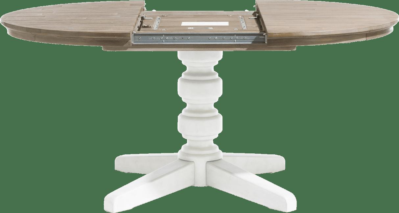 Le Port - uitschuiftafel rond 120 cm (+ 50 cm)