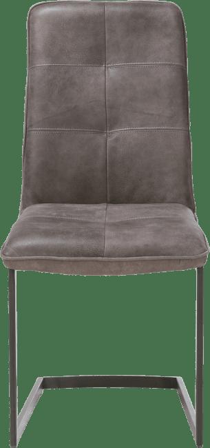 Milan Leder - chaise - pietement vintage