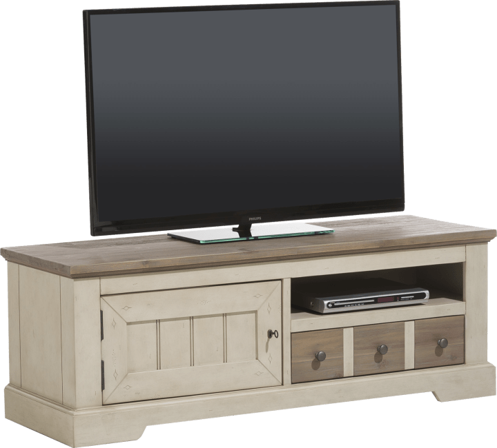 Le Port - tv-sideboard 140 cm - 1-tuer + 1-lade + 1-nische