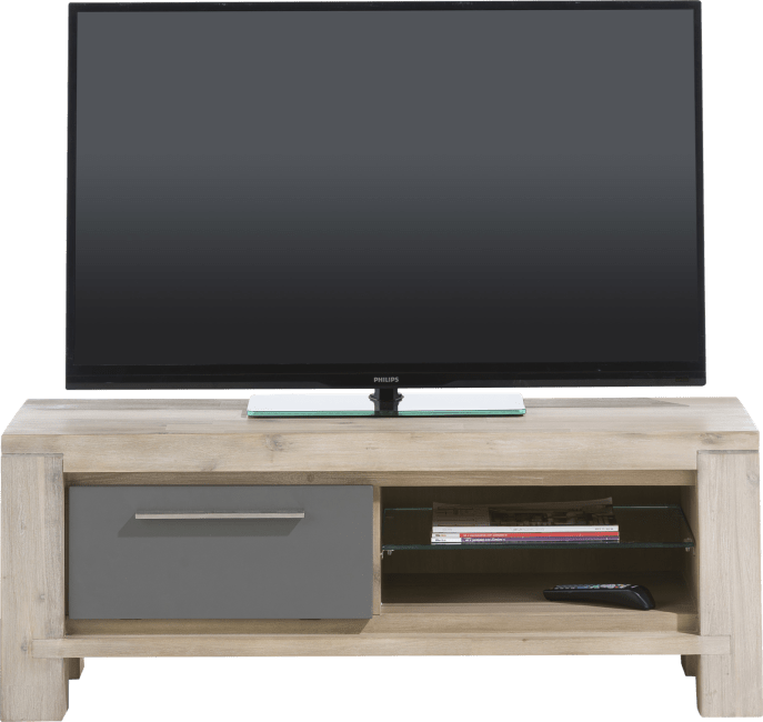 Multiplus - tv-dressoir 120 cm - 1-klep + 2-niches