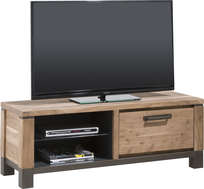 Tv Kast Kleppen.Falster Tv Dressoir 1 Klep 2 Niches 130 Henders Hazel