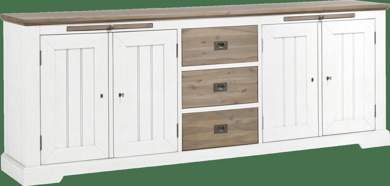 Le Port - dressoir 240 cm - 4-deuren + 3-laden + 2-uitschuifplateaus