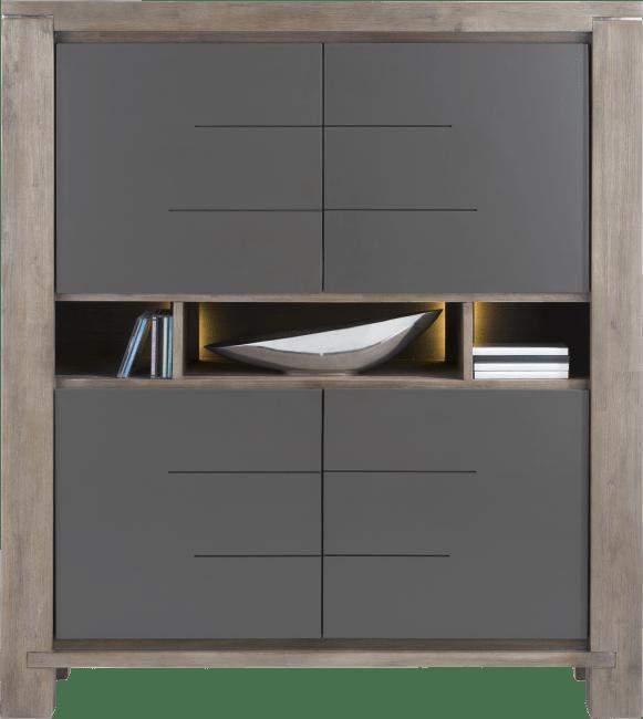 Multiplus - highboard smal 4-deuren + 3-niches (+ led)