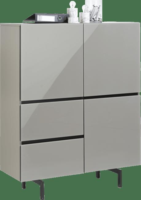 Lurano - highboard 115 cm - 3-tueren + 2-laden