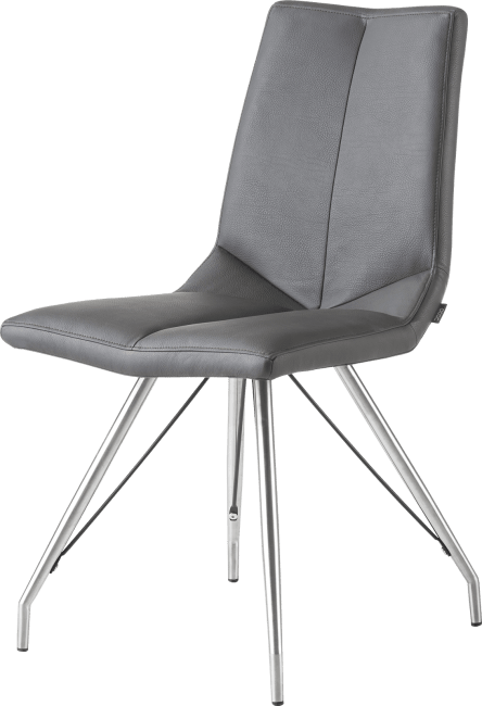 Arto - chaise inox pietement eiffel