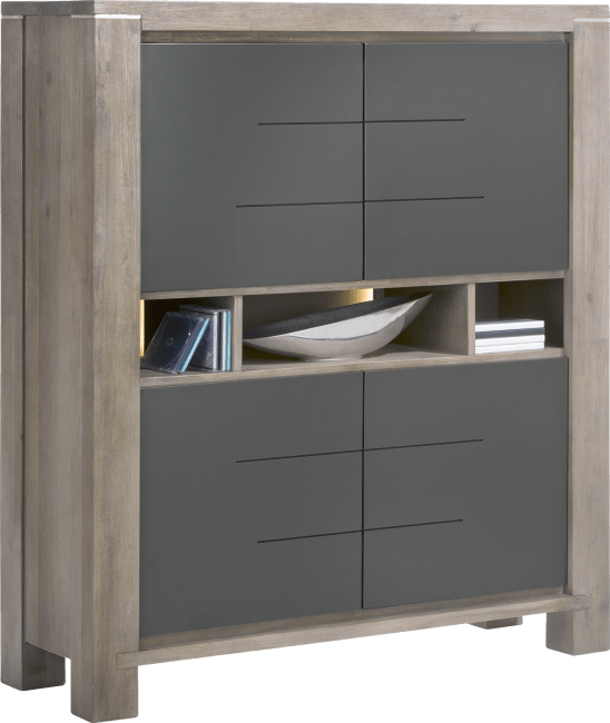 Multiplus - highboard 4-portes + 3-niches (+ led)