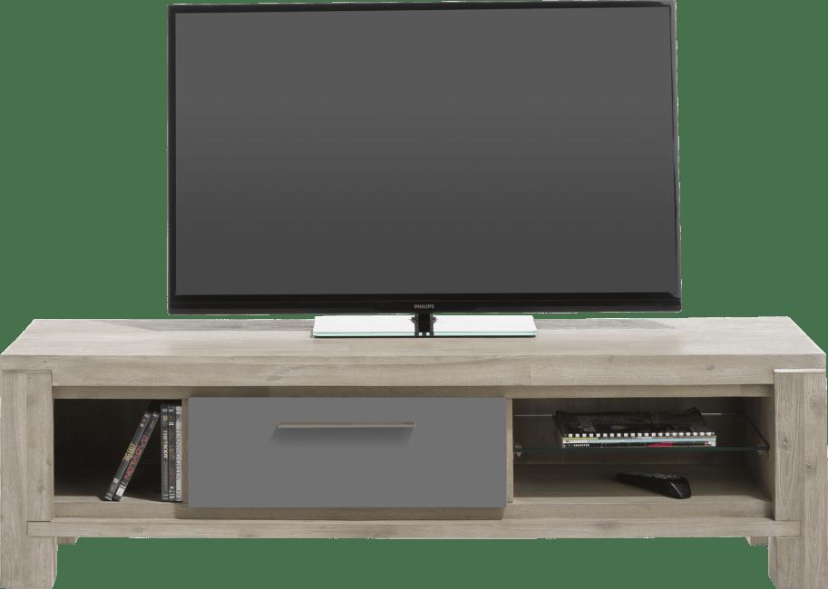 Multiplus - tv-dressoir 150 cm - 1-klep + 3-niches