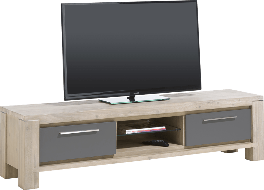 Multiplus - tv-dressoir 180 cm - 1-lade + 1-klep + 2-niches