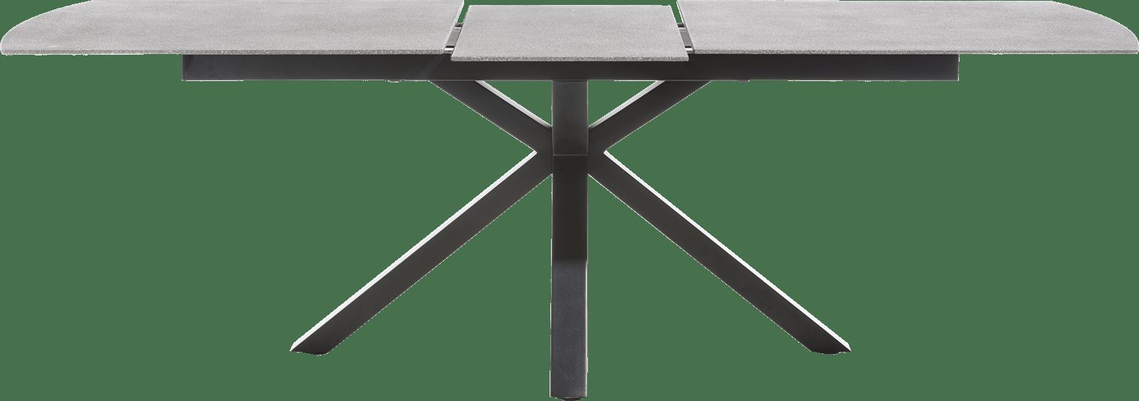 Multiplus - uitschuiftafel 200 (+ 60) x 100 cm - stone glas