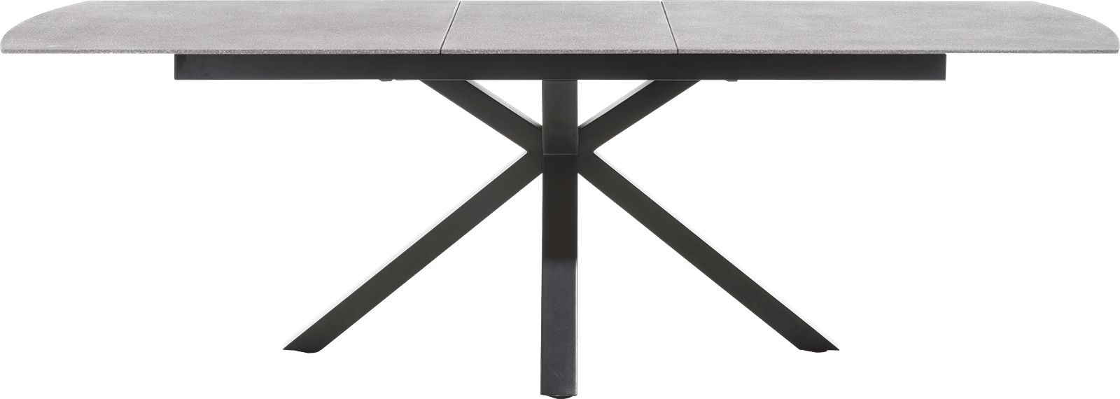 Multiplus - table a rallonge 170 (+ 50) x 100 cm - stone glass