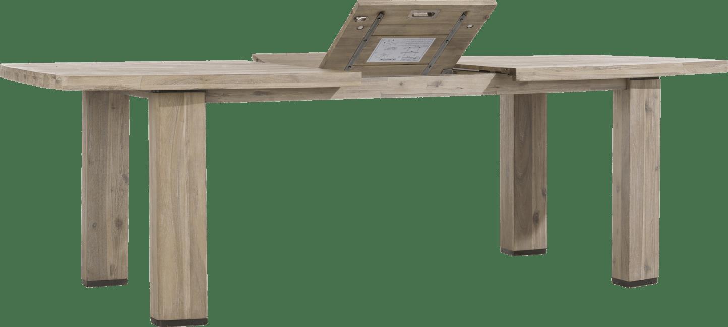 Coiba - uitschuiftafel 190 (+ 50) x 105 cm