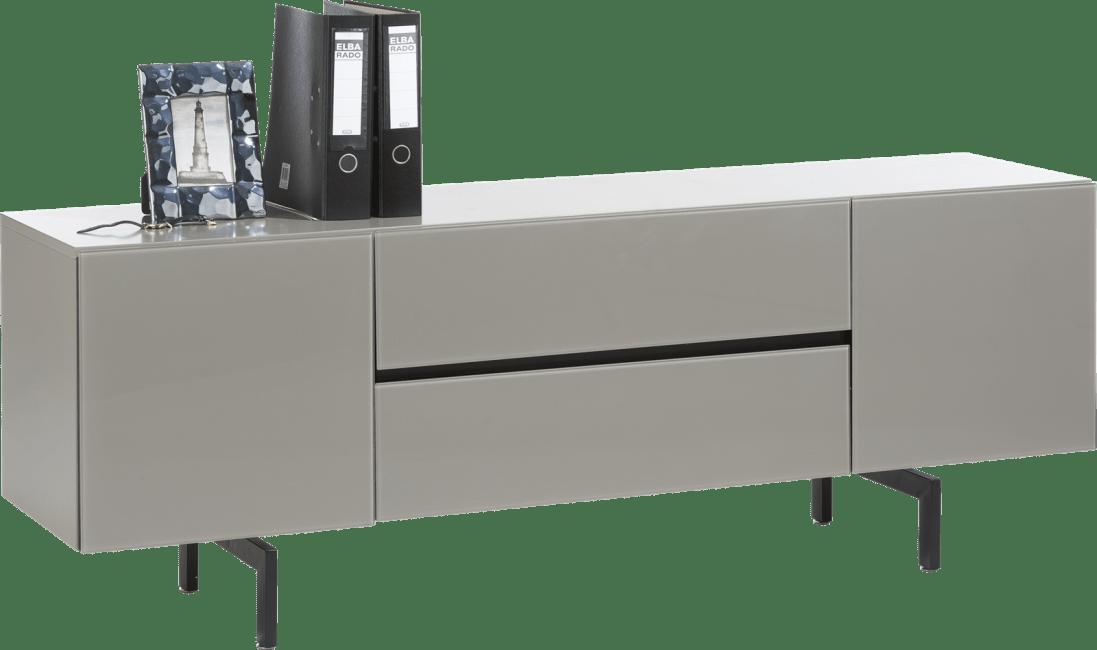 Lurano - lowboard 175 cm - 2-portes + 1-tiroir + 1-porte rabattante - taupe